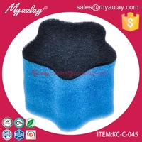 KC-C-045 star shape kitchen pot scrubber foam sponge kitchen scourer