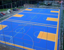 Outdoor 100% Polyproperlene Chinese Basketball/Soccer Court Rubber Flooring