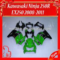 ABS Fairing kit for KAWASAKI Ninja 250R EX 250 2008 2009 2010 2011 EX250 ZX250R 08 09 10 11 Green Black