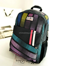 Fashion Customized Printing 600D Backpack Bag School Rucksack Travel Laptop Backpack For Teenagers Students