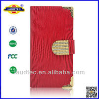 Luxury Crocodile Wallet Leather Phone Case for Samsung Galaxy S5 Case+Screen Protector