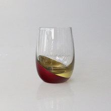 handmade red Cachet Perfection Stemless Wine Glass