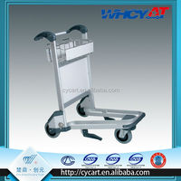 3 wheels Aluminum Alloy metal airport luggage trolley carts