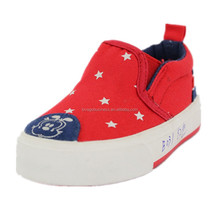 Comfortable star print canvas casual shoes loafer manufacturers