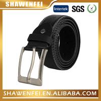 3.8cm pin buckle cowhide genuine leather belts