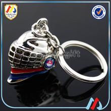 3D Metal Helmet Keychain