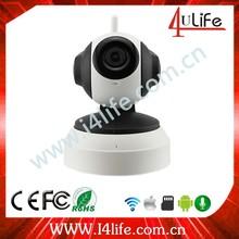 Shenzhen supplier Onvif 1.0M Remote Pan/Tilt rotat wireless smart home IP camera