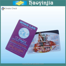 Fast Delivery 100% QC cr80 calendar card