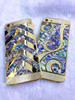 Luxury Side Diamond Gold Housing for iPhone 5s , Flower Design Back Housing Cover for iPhone 5s