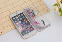 Low price china mobile phone Flowing Liquid Floating bling hard pc Eye case for iphone 6 4.7 china price