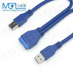 USB 3.0 A Type Male to Motherboard 20 Pin Header Male adapter cable