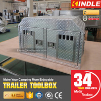 Outdoor Camping Heavy Duty T-handle Locking Double Doors Pet Dog Cage Wiht Air Vents