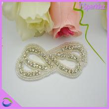 fancy rhinestone applique motifs apliques small bow strass kids patches for children headband tiaras