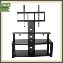 new style glass tv stand tv cabinet slide oak living room furniture RM004