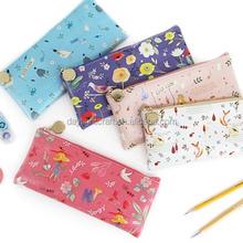 New Fashion Stationery Pastoral Sackcloth Pen Pencil Makeup Case Canvas Bag, pencil pouch