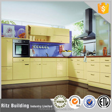 Ritz high end creamy yellow lacquer furniture