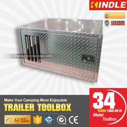 Outdoor During Hunting Single Compartment Aluminum Dog Tool Box With Air Vents