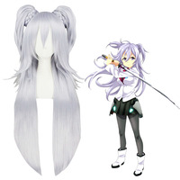 cheap wholesale 90CM long light purple The Asterisk War synthetic Cosplay wig