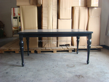 wood dining room table black lacquer
