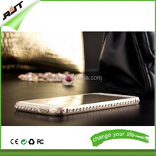 New fashion luxury bling diamond metal frame cell phone case cover for iphone 6