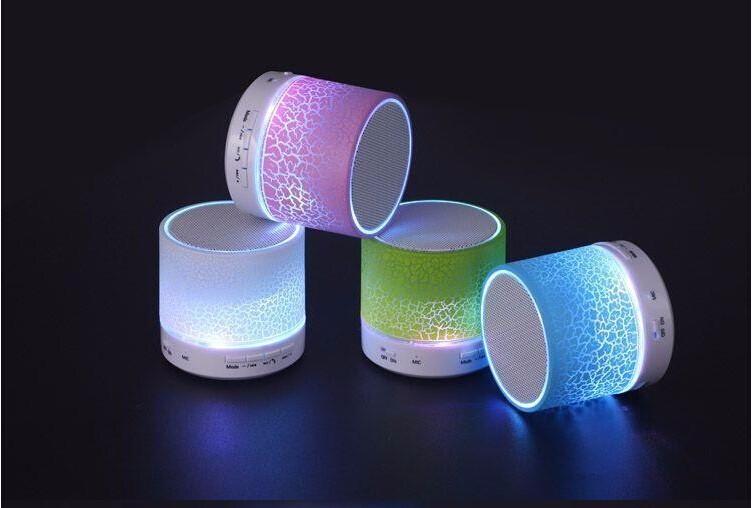 Mini bluetooth haut-parleur avec LED lumière, haute qualité stéréo portable bluetooth haut-parleur