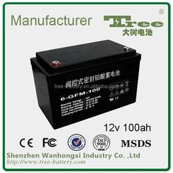 CE MDSD best solar battery price of lead acid battery 12v 100ah