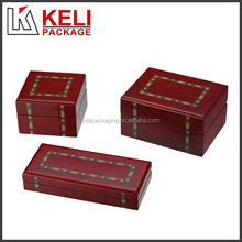 Exquisite wooden lacquer jewelry display box