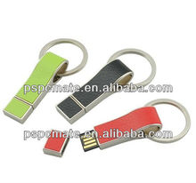 leather with keyclain usb flash drive with your logo as promotional corporate gift,PAYPAL acceptable