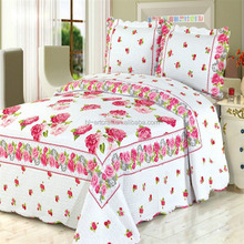 Fancy high quality wholesale price printed quilts bedspreads hotel bed coverlets