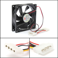 Brand NEW 90mm/90x90x25mm 12V 4-Pin Cooler Computer PC CPU Silent Cooling Case Fan Black