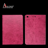 Top quality genuine leather cover for apple ipad case