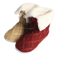 2015 new design fashionable knitting canadian snow boots
