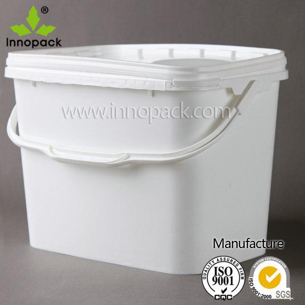 Rectangular Plastic Bucket With Lid View Rectangular