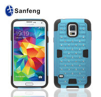 New fashion replacement light blue tpu back cover case for samsung s5 i9600