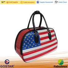 American Flag Design Deluxe Gloss PU Golf Bag