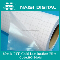 60mic glosy transparent laminating texture pvc film