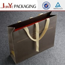 Hot sale luxury private custom logo printed glossy eco friendly bulk reusable large shopping paper bag