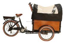 CE Danish bakfiets family rickshaw front passenger