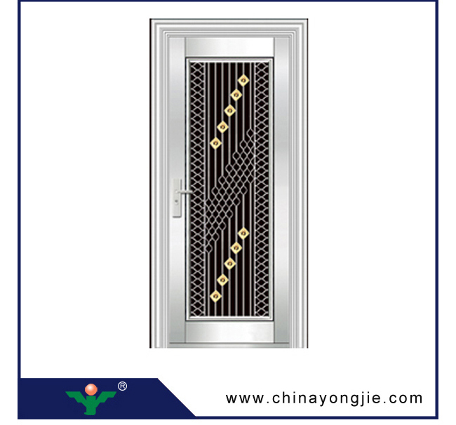 China High Quality Exterior Stainless Steel Lowes Wrought Iron Security Doors