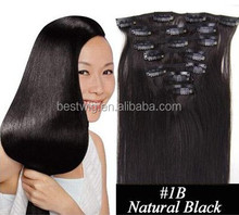 Wholesale best quality remy human hair 32 inch hair extensions clip in