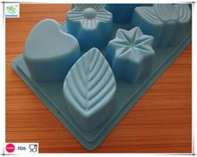 Various flowers Shaped Ice Cube Chocolates Molds leaf Ice Tray Cake Stencil Baking Abrasives Cake Decorating Tools