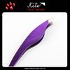 Glossy Purple Girls Makeup Tools Personalized Eyebrow Tweezer Scissors