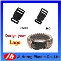 Paracord bracelet wholesale plastic buckle with logo engraved