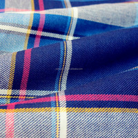 100 percent cotton indigo and reactive yarn dyed shirting fabric