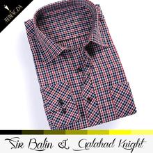 famous european fashion long sleeve check cotton classic shirt bag