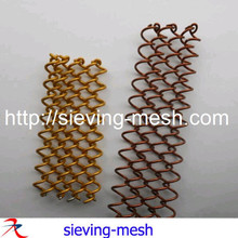 Gold Color Metal Wire Mesh Curtains for Decoration and Privacy / metal curtain screen