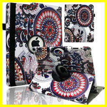 Printing 360 Case for ipad air 2 Rotating Leather Cases with Custom Cartoon Printing for iPad 2 for iPad mini Leather Case
