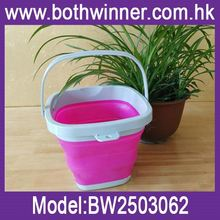silicone water folding bucket ,H0T662 new products silicone foldable bucket , folding silicone pail