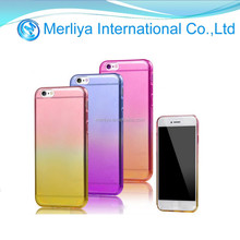 Thin Gradual change Ombre Clear Soft TPU Case for Iphone6
