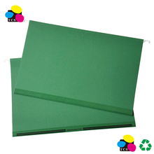 Kraft Paper Suspension File Folders with Reinforcement Tap, Green